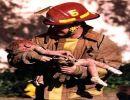 El bombero venciendo limitaciones