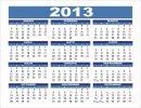 Calendario año 2013