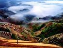 Dragon's backbone rice terraces China