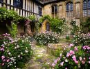 Chalfield manor gardens England
