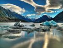 Tasman lake New Zealand