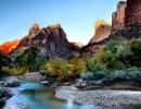 Zion national park. virgin river usa