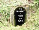 Un Guantazo al pasar  un túnel